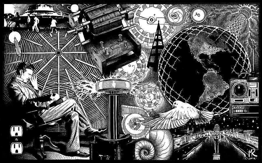 Nikola Tesla by Matthew Ridgway