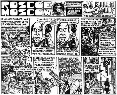 Alan Moore's first strip for Sounds (31 March 1979)