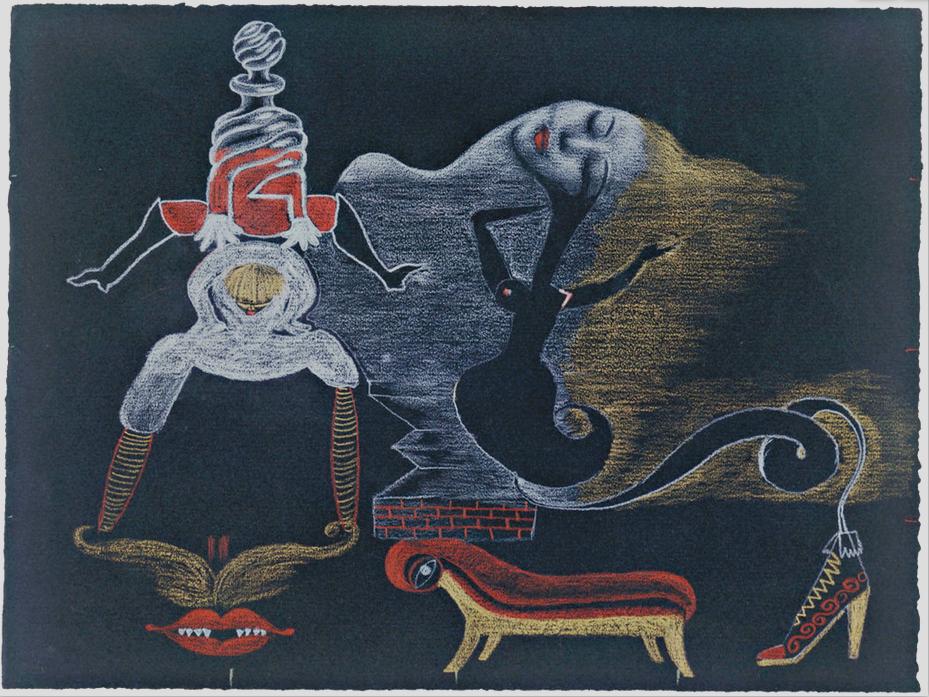 'Cadavre Exquis' 1933 - Valentine Hugo, André Breton, Tristan Tzara, Greta Knutson