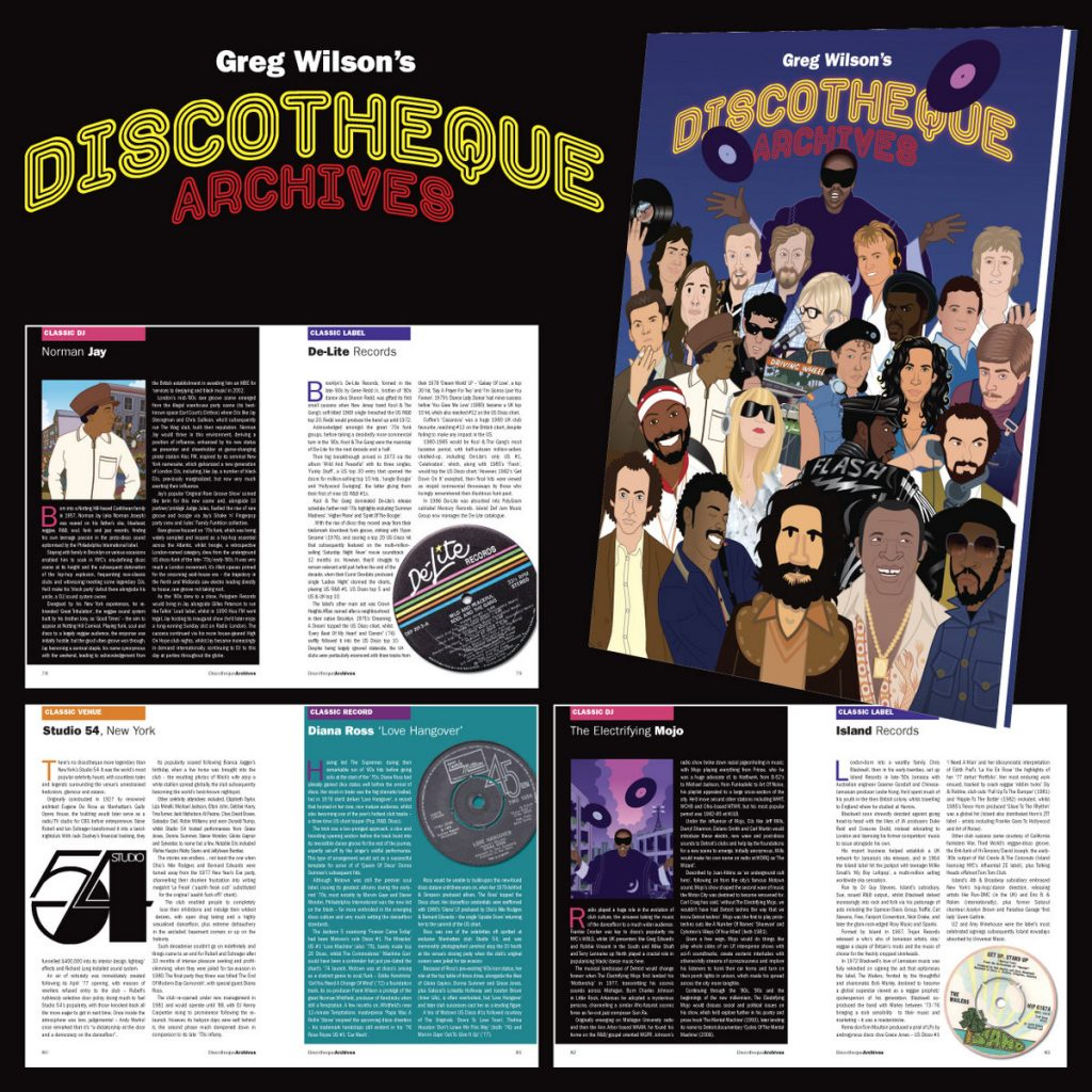 Greg Wilson book about DJ culture 'Greg Wilson's Discotheque Archives'